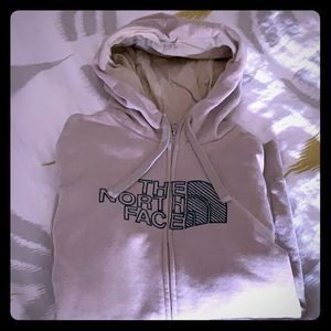 Medium zip up Northface hoodie